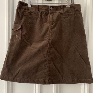 Brown Isis velvet-like skirt 12
